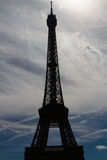 Eiffel Tower against skyline Royalty Free Stock Images