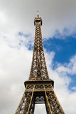 Eiffel Tower against skyline Stock Photography