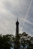 Eiffel Tower against skyline Royalty Free Stock Photo