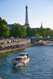 Eiffel Tower since Alexandre III Bridge in Paris, France Stock Images