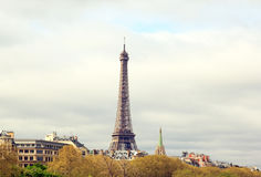 Eiffel Tower from Alexandre III bridge (Paris France) Stock Images
