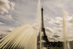 Eiffel tower. Amazing view of Eiffel Tower from Trocadéro royalty free stock photography