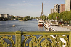 Eiffel Tower And River Seine Stock Photography