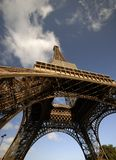Eiffel Tower angle Stock Photos
