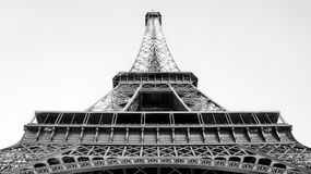 Eiffel Tower. An angled view of the Eiffel Tower in Paris Royalty Free Stock Photo