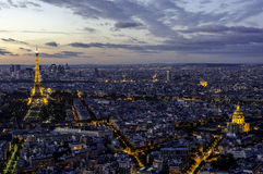 Eiffel Tower, Arc de Triomphe and Invalides. Paris. Royalty Free Stock Photography