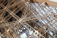Eiffel tower architectural detail Royalty Free Stock Photo