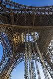 The Eiffel Tower architecture from below Stock Image