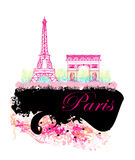 Eiffel tower artistic background. Royalty Free Stock Photos