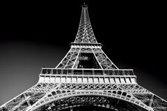 Eiffel Tower in artistic tone, black and white, Paris, France. Eiffel Tower in artistic tone, black and white. Paris, France. European landmarks Stock Photography
