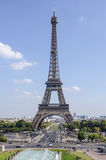 Eiffel tower as seen from trocadero Royalty Free Stock Photos