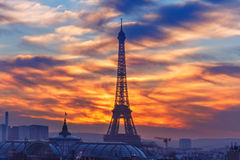 Free Eiffel Tower At Sunset In Paris, France Royalty Free Stock Photography - 85056937