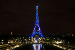 Eiffel tower in August 2008 Stock Images