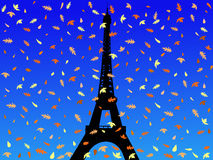Eiffel tower in autumn Royalty Free Stock Photo