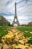Eiffel Tower in autumn Stock Images