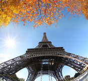 Eiffel Tower in autumn, Paris, France Royalty Free Stock Images