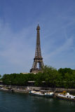 The Eiffel Tower on the bank of river Seine, Paris, France Royalty Free Stock Photography