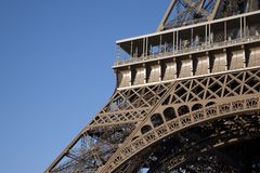 Eiffel Tower Base in Paris Stock Image