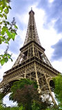 Eiffel Tower. Base of the Eiffel Tour in Paris Royalty Free Stock Photo