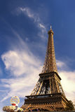 The Eiffel Tower on a beautiful day Stock Images