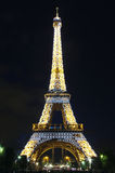 Eiffel Tower with beautiful light pattern Royalty Free Stock Photography