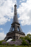 Eiffel Tower on a beautiful summer day Stock Photos