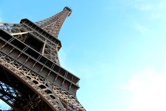 Eiffel tower. Beautiful view on the Eifel tower in Paris Royalty Free Stock Image