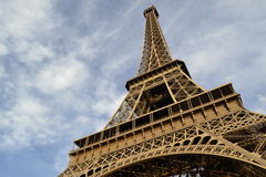 Eiffel Tower. Beautiful view of Eiffel tower in Paris France Stock Photo