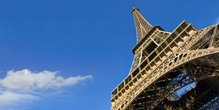 Eiffel Tower from below. Always awesome... the Eiffel Tower against a radiant blue sky Stock Photo