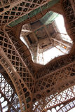 Eiffel tower from below Royalty Free Stock Photo