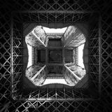 Eiffel tower from below Royalty Free Stock Photos