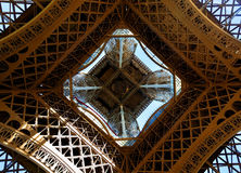 Eiffel Tower from below Royalty Free Stock Image