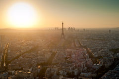 Eiffel Tower biew from Montparnasse tower Royalty Free Stock Photography