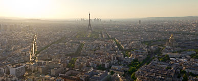Eiffel Tower biew from Montparnasse tower royalty free stock photos