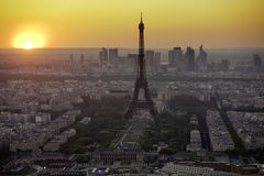 Eiffel Tower biew from Montparnasse tower Stock Images