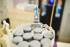 Eiffel Tower Biscuit Stock Photo