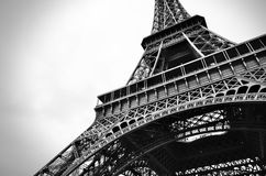 Eiffel tower black and white beauty stock images