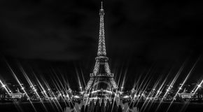 Eiffel Tower in Black and White Stock Photos