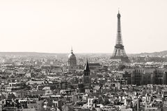 Eiffel tower in black and white, Paris royalty free stock images