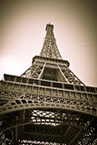 Eiffel tower. Black and white photo of Eiffel tower in Paris stock image