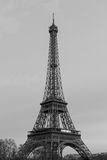 Eiffel Tower black and white Stock Images
