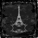Eiffel Tower on a blackboard Royalty Free Stock Image