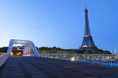 Eiffel tower at blue hour Stock Image