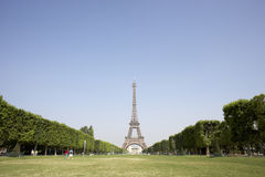 Eiffel Tower With Blue Sky Stock Photo