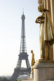 Eiffel Tower With Blue Sky Stock Image