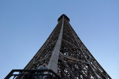 Eiffel tower. The Eiffel Tower on a blue sky Stock Images