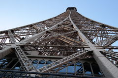 Eiffel tower. The Eiffel Tower on a blue sky Royalty Free Stock Photo
