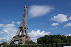 Eiffel tower. The Eiffel Tower on a blue sky Royalty Free Stock Image