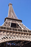 Eiffel tower on blue sky background, Paris Stock Photos