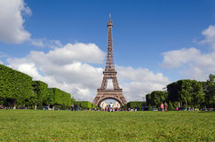 Eiffel Tower with blue sky in the morning, Paris Royalty Free Stock Photo